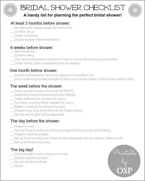 Bridal Shower Bridal Shower Checklist 2161993 Weddbook