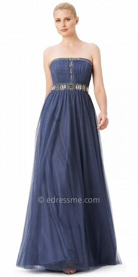 fb4690b6daee8 Adrianna Papell Strapless Jeweled Tulle Evening Dresses #2162339 ...