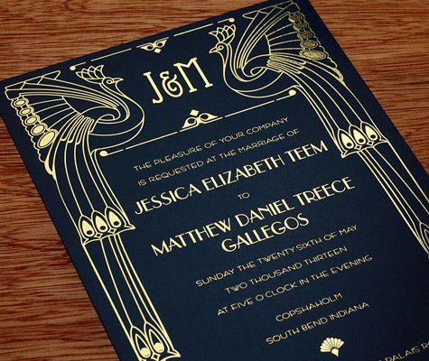 Hochzeit - Invitation Paper Gold