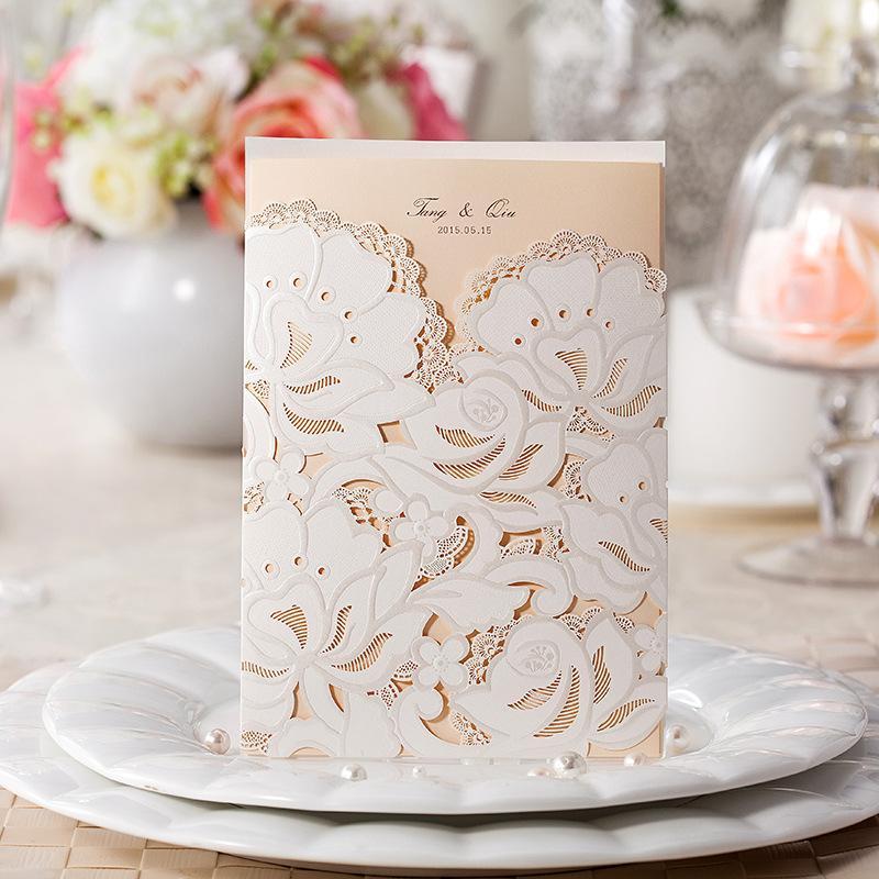 Wedding Invitation Card, Customised Printing,CW100, Wedding Favors ...