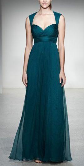Amsale - Amsale Crinkled Silk Chiffon Gown #2162745 - Weddbook