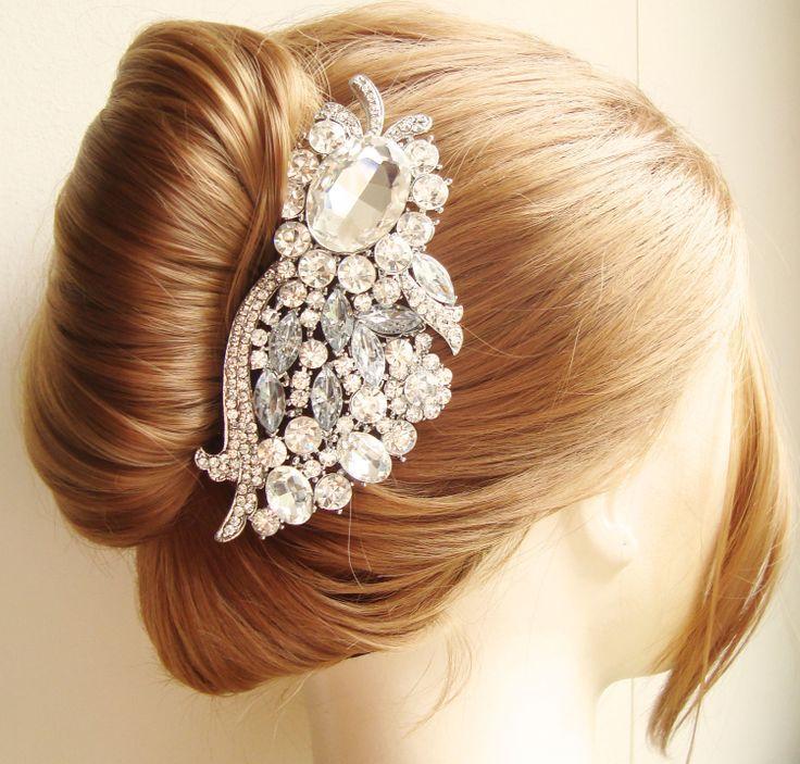 Superb Crystal Wedding Hair Comb Vintage Bridal Hair Accessories Bridal Short Hairstyles Gunalazisus