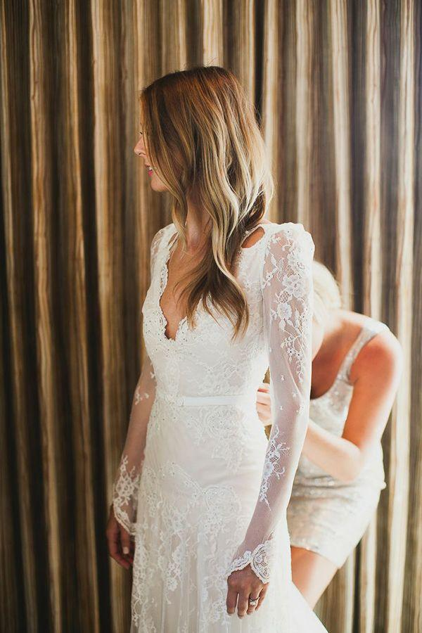 Mariage - 45 Long Sleeved Wedding Dresses For Fall Brides
