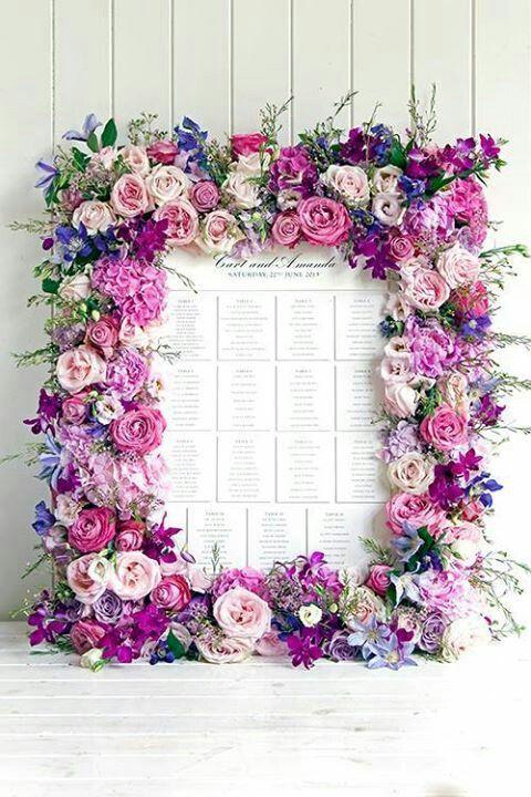 Свадьба - Floral Frame For Escort Card Display