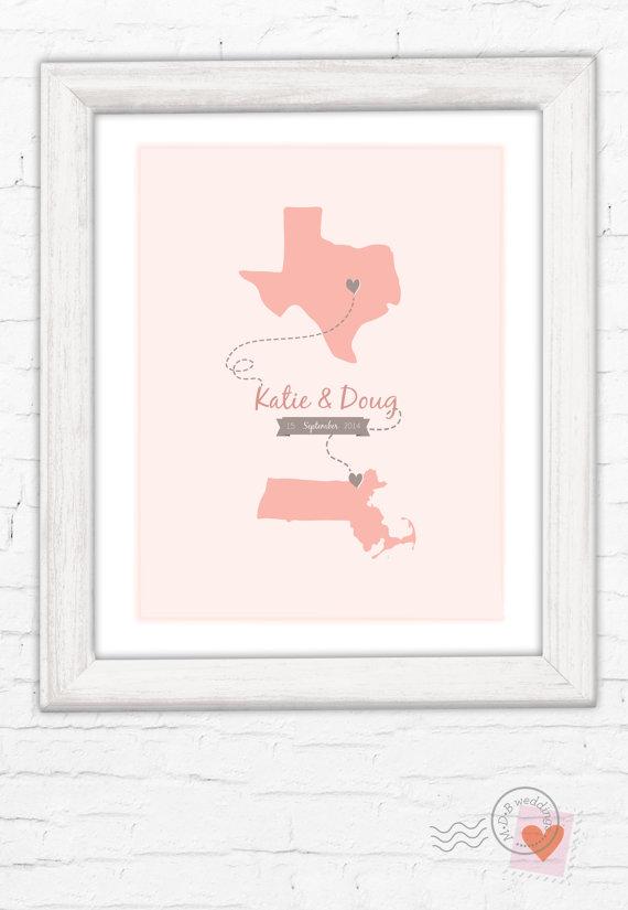 Wedding - Two State Wedding Print