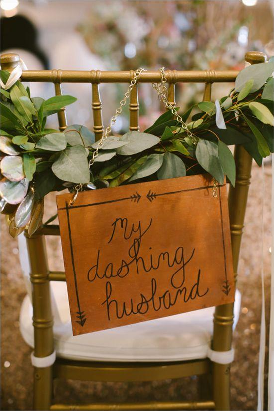 Hochzeit - Wedding CHAIRS-Bride & Groom