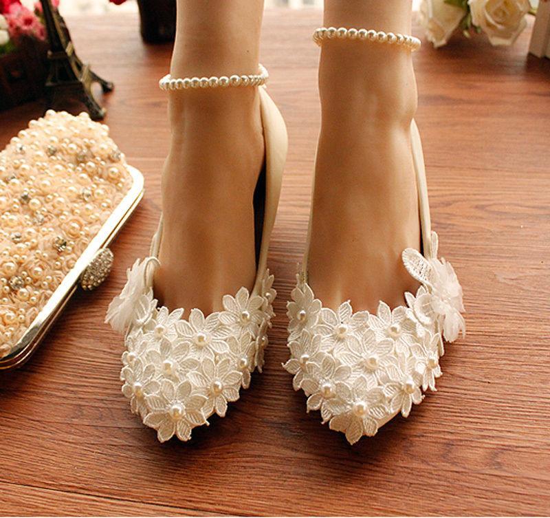 New women white high heel flower ankle strap wedding lace pearl new women white high heel flower ankle strap wedding lace pearl bride shoes mightylinksfo