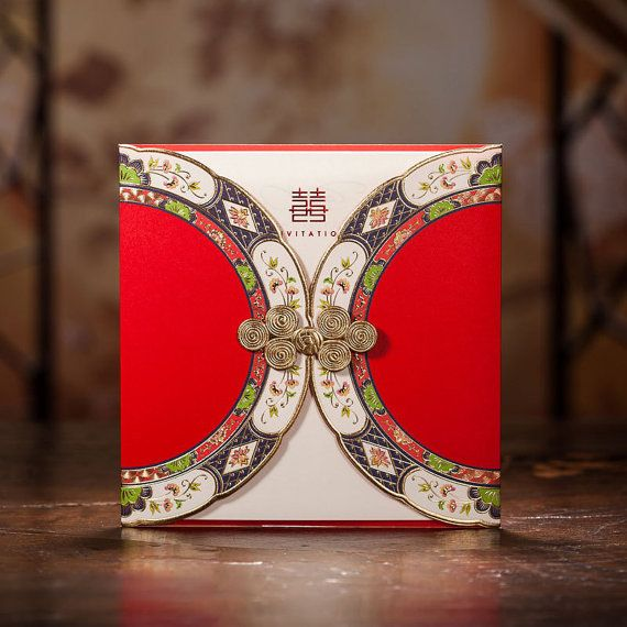 Свадьба - 30 Pcs Chinese Style Red Wedding Invitation / Ship Worldwide 3-5 Days