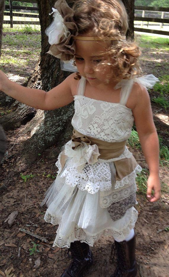 Vintage Boho Flower Girl Dress-One Of A Kind Vintage Girls Dress ...