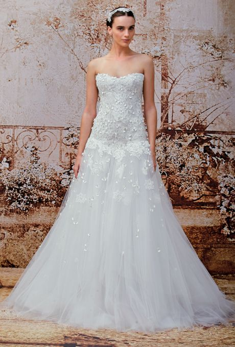 زفاف - Monique Lhuillier Wedding Dresses Fall 2014 Bridal Runway Shows