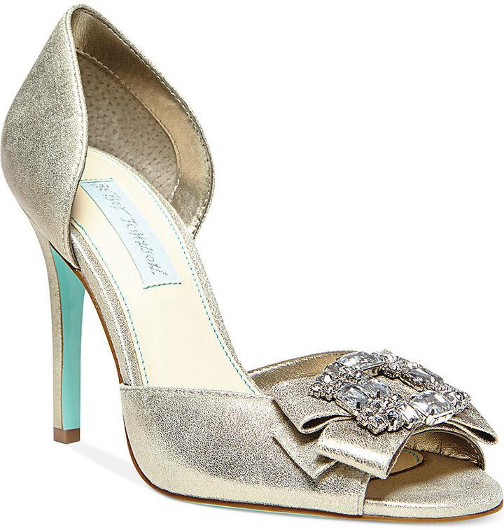 Blue By Betsey Johnson Glam Evening Pumps