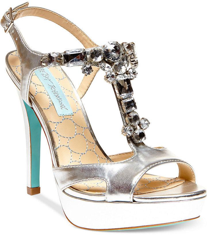 Blue By Betsey Johnson Luxe High Heel Platform Evening Sandals ...