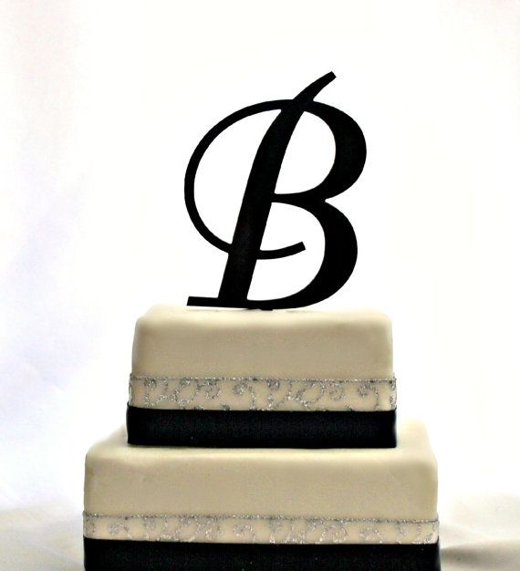 T A T T O O I N S P On Pinterest: 6 Inch Monogram Acrylic Cake Topper In Any Letter