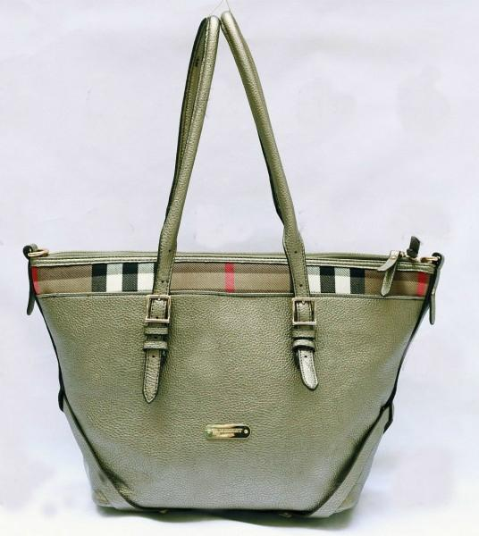 b678bc64f52 BURBERRY Green Ladies Shoulder Bag With Flexible Straps  2165906 ...