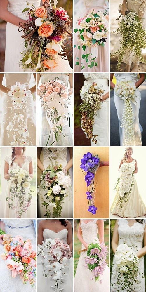 Hochzeit - Cascading Bouquets