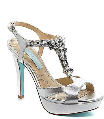 Свадьба - Blue by Betsey Johnson Luxe Jeweled Sandals