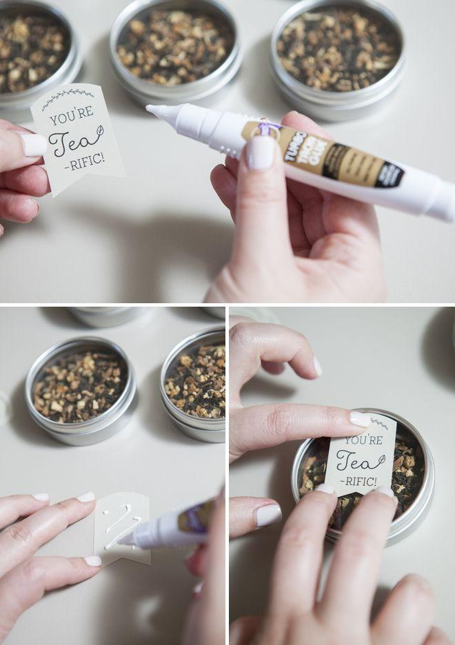 Learn How To Make These Darling Tea Wedding Favors 2166443 Weddbook