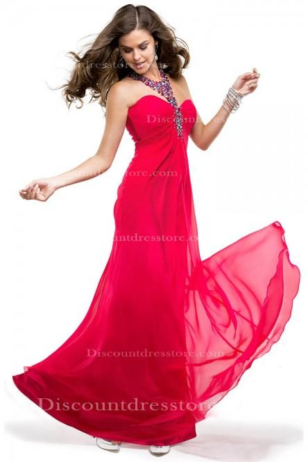 Mariage - Cheap Sheath/Column Halter Sleeveless Formal Dress