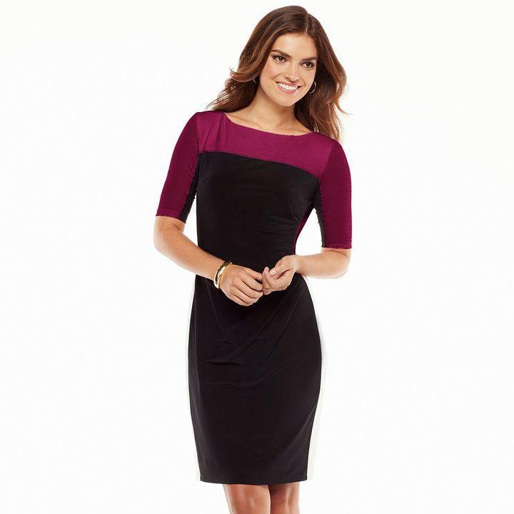 435cf20c Chaps Colorblock Sheath Dress - Women's #2166684 - Weddbook