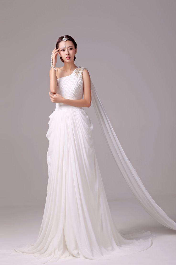 One Shoulder Strap Wedding Dress Inspiration 2166737 Weddbook