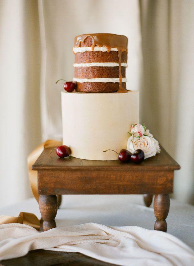 Mariage - Naked Fall Wedding Cake