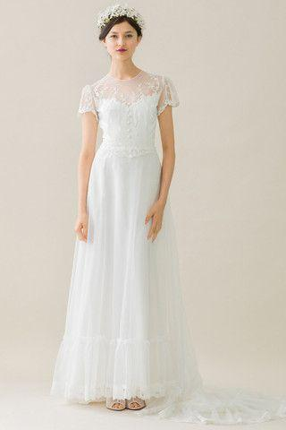 Mariage - Short Sleeved/Cap Sleeved/Off The Shoulder Sleeves Wedding Gown Inspiration