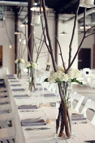 Свадьба - Twig Centerpieces