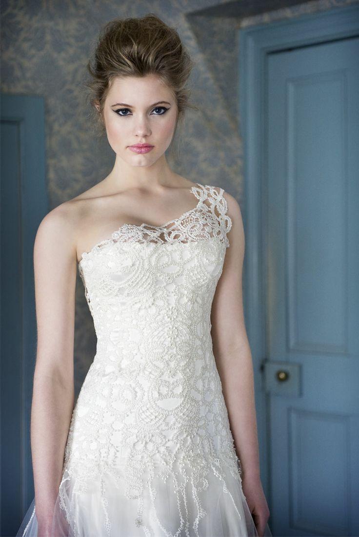 One Shoulder Strap Wedding Dress Inspiration 2167128 Weddbook