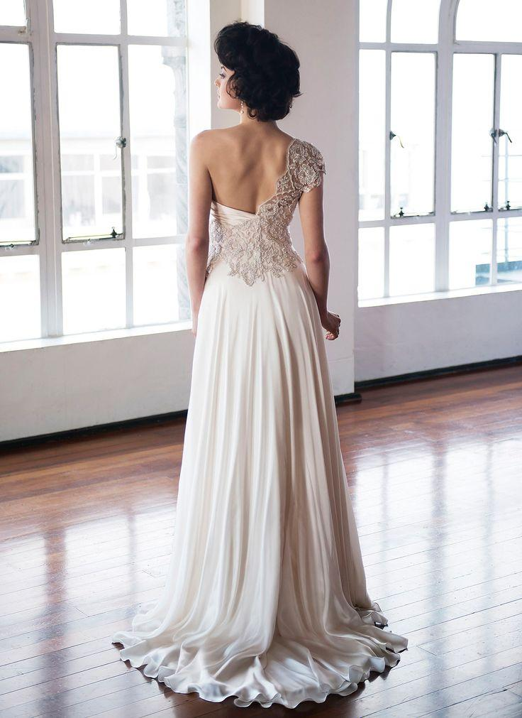 One Shoulder Strap Wedding Dress Inspiration 2167140 Weddbook