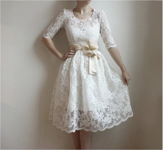 Свадьба - Ellie--2 Piece, Lace And Cotton Wedding Dress--Etsy Exclusive--Reserved For Laura Van Grinsven