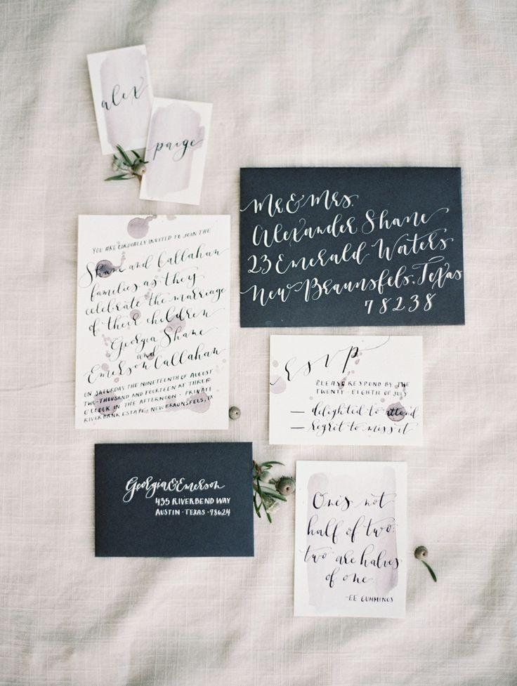 Modern Calligraphy Wedding Invitations : modern wedding invitations with calligraphy modern wedding invitations ...