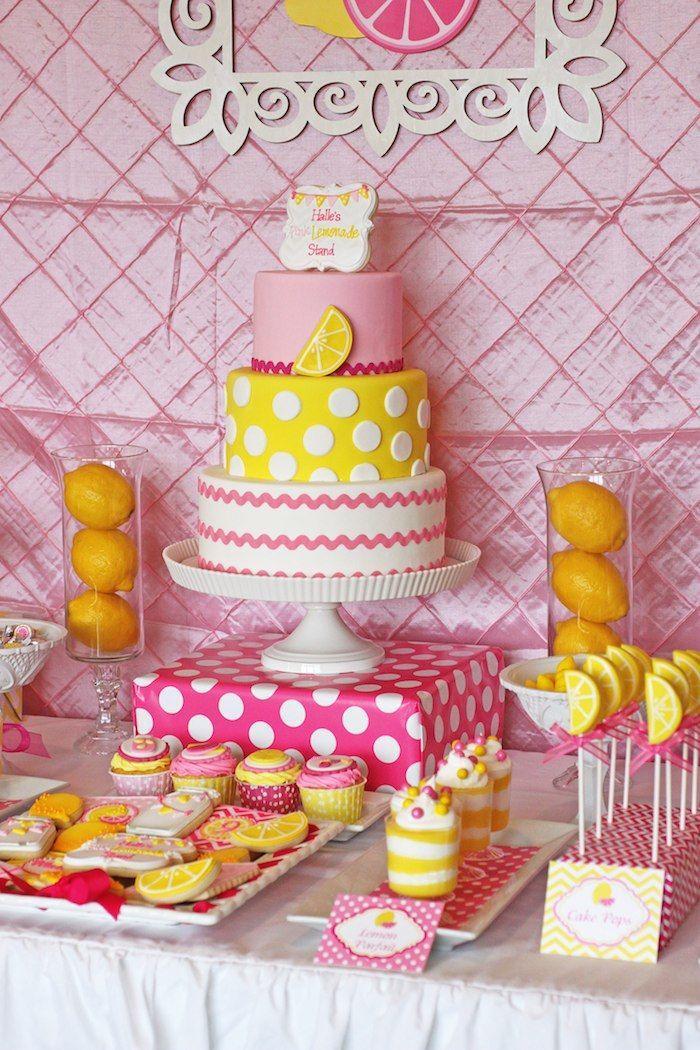 Pink Lemonade Themed Birthday Party Via Kara S Party Ideas