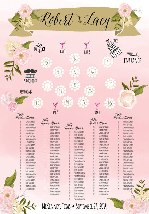 Wedding - Custom Wedding Seating Chart