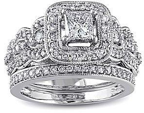 زفاف - FINE JEWELRY 11⁄4 CT. T.W. Diamond 14K White Gold Bridal Ring Set