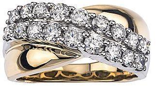 زفاف - FINE JEWELRY 1-1/5 CT. T.W. Diamond 14K Two-Tone Gold Wedding Band