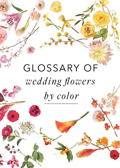 Свадьба - Plan Your Wedding Arrangements Using Our Flower Glossary