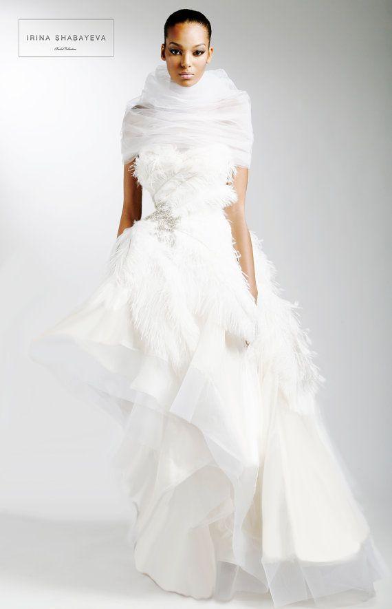 Irina shabayeva couture asymmetrical hem ball gown for Wedding dresses asymmetrical hemline