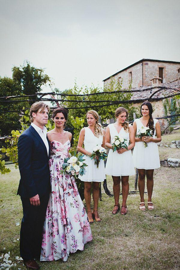 A Floral Wedding Gown For A Rustic Style, Summer Garden Party Feast ...