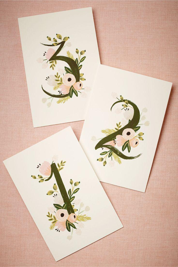Wedding - Floravine Table Numbers (5)