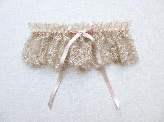 Wedding - Antiquity Lace Silk Garter