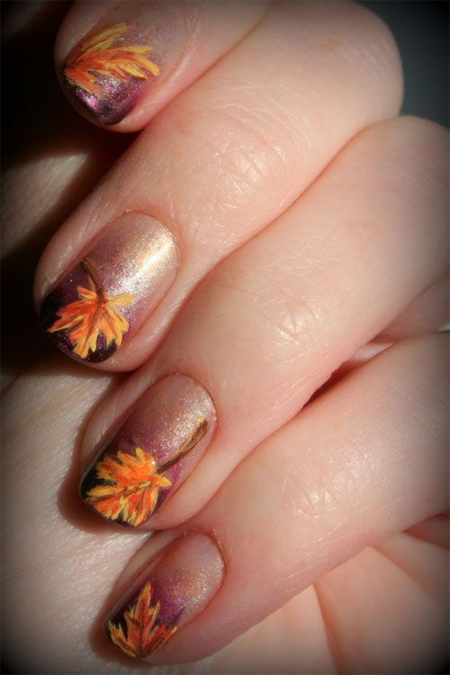 60 Fall Inspired Nail Designs Leaves Owls Pumpkins More 2170062