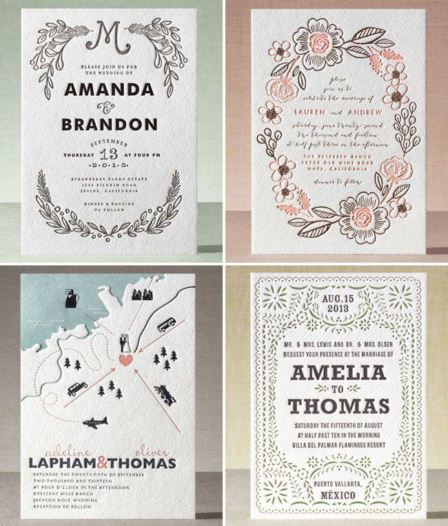 Hochzeit - Introducing Minted Letterpress   A Giveaway!