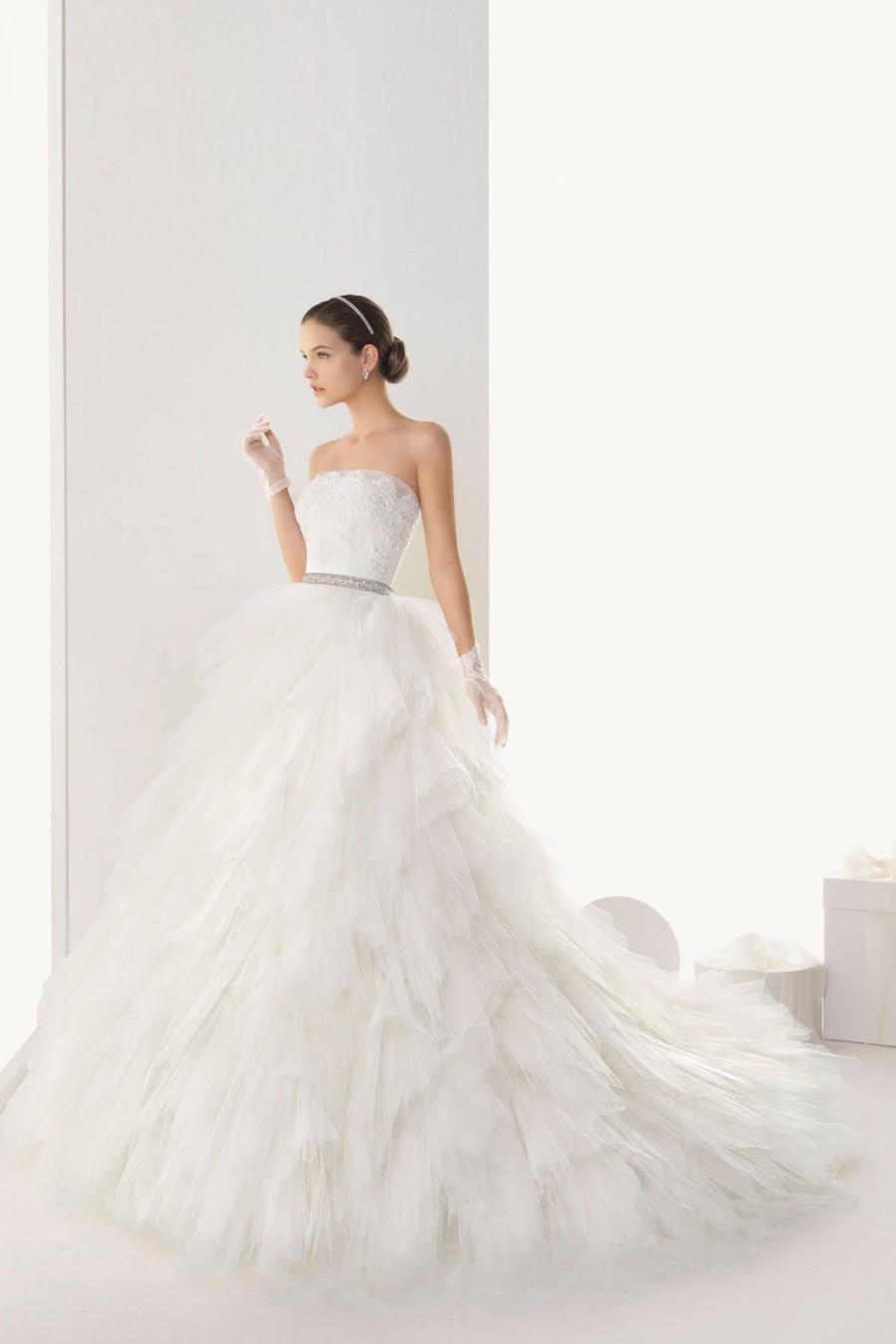 Düğün - Gorgeous Strapless Tulle Empire Dress for Wedding with Lace Wrap