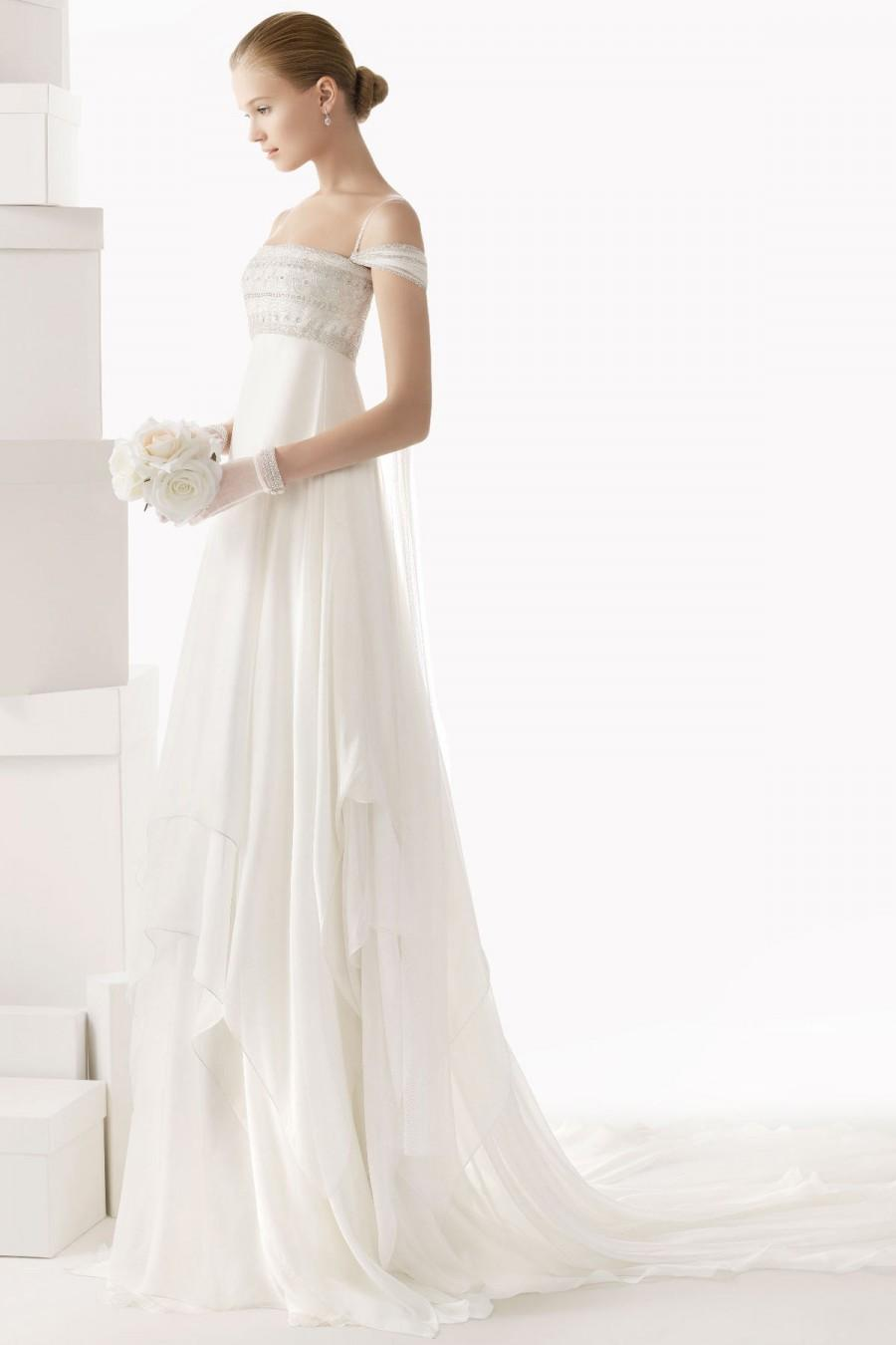 Hochzeit - Sexy Spaghetti Straps Draping Tulle Wedding Dress Online