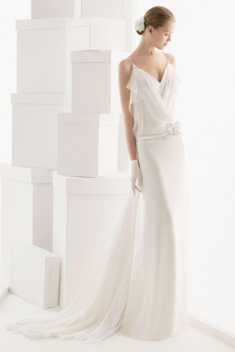 Mariage - Sexy Spaghetti Straps Draping Ruffles Chiffon Wedding Dress Cheap
