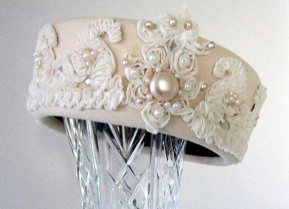 زفاف - Vintage 1960's Pill Box Hat