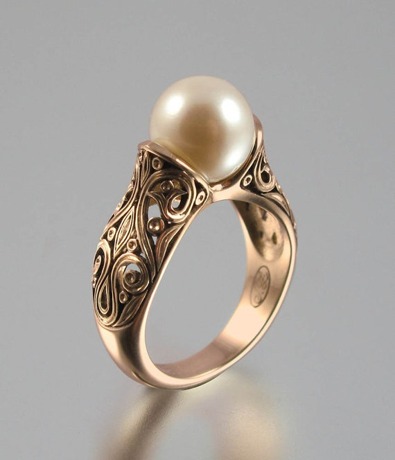 The ENCHANTED PEARL 14K Rose Gold Ring