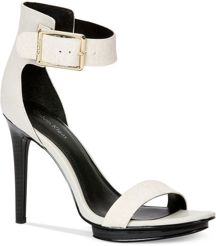 52b2bb8e34a Calvin Klein Women s Vivian High Heel Sandals  2171607 - Weddbook