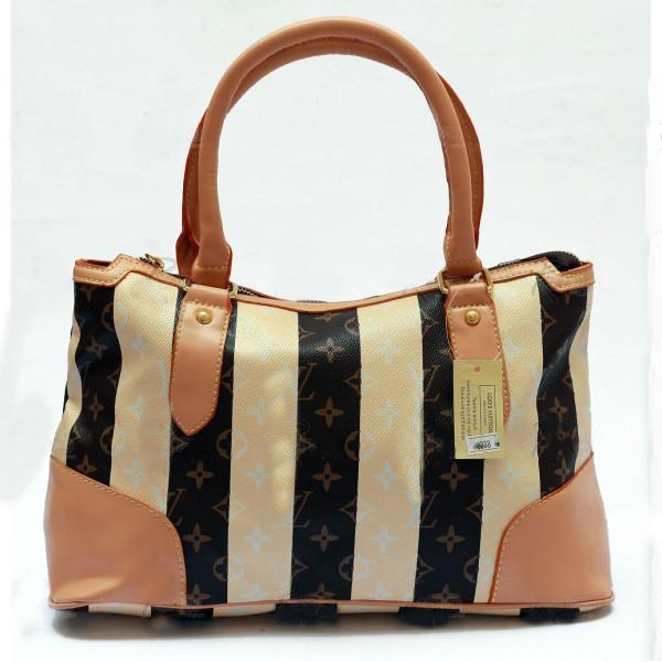 Свадьба - LOUIS VUITTON Ladies LV Logo Cream Brown Shoulder Bag