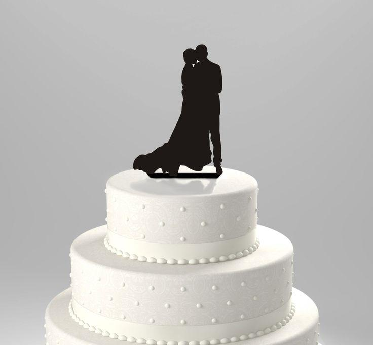 Wedding Cake Topper Silhouette Couple Dancing Close Acrylic Cake Topper 2171943